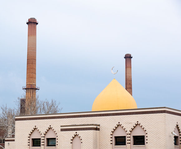 Mosque and Power Plant