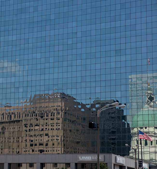 Old Courthouse reflection, St. Louis, Mo.  Canon 5D II and 24-70mm f/2.8 L @ 70mm; exposed 1/500 sec. @ f/5.6, ISO 100