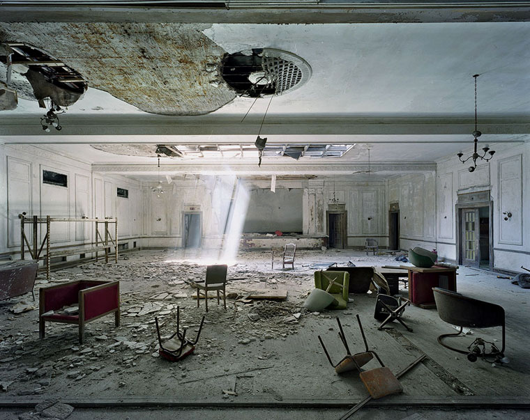 "Marchand and Meffre photograph from their series ""The Ruins of Detroit"""