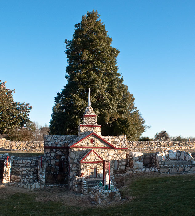 Henry L. Warren's stone village, Prospect Hill, N.C.