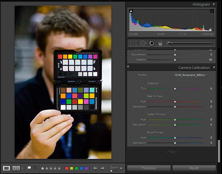 Adobe Lightroom Camera Profile selection