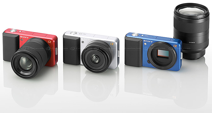 Ultra-compact new camera with interchangeable lenses, APS-size sensor and AVCHD; more additions to α DSLR line-up