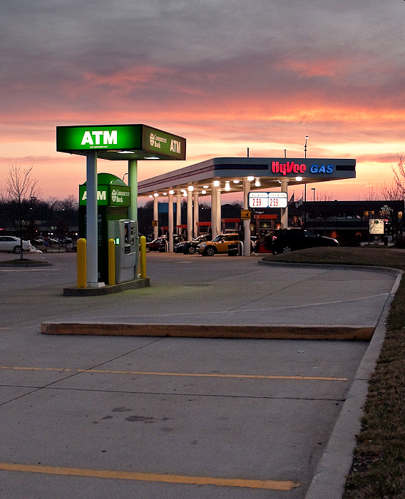 Twilight over the Gas Station