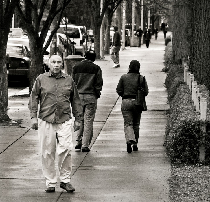 Walking down Ninth Street