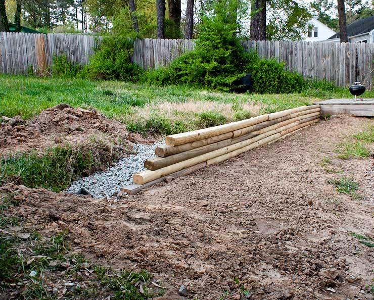 Completed French drain