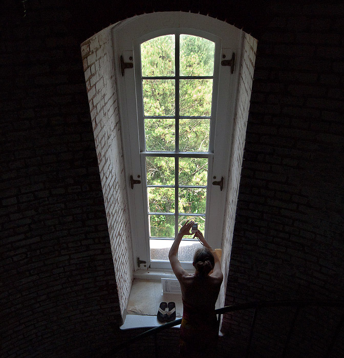 Scene from the Currituck Lighthouse staircase