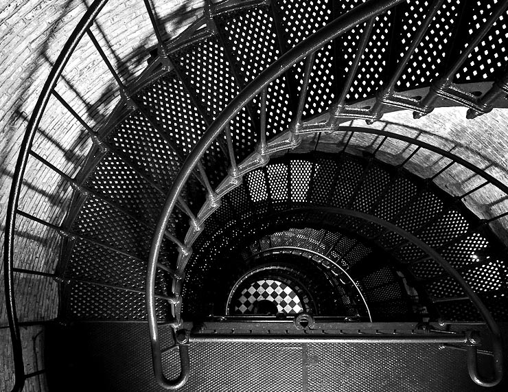 Spirals in Black and White