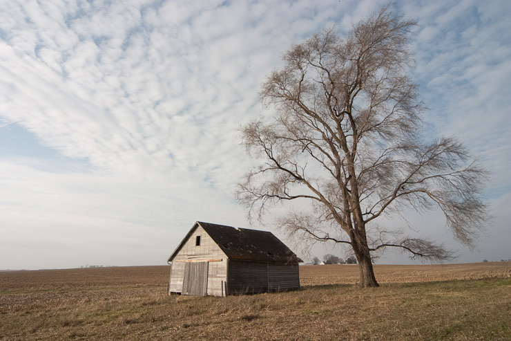 Original capture of the barn