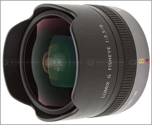 Panasonic 8mm f/3.5 fisheye lens - image property of DPReview.com