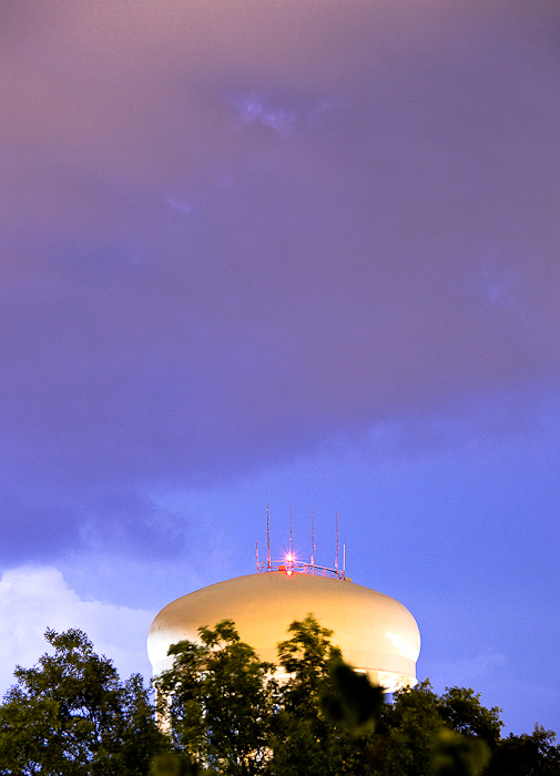 Storm over the water tower
