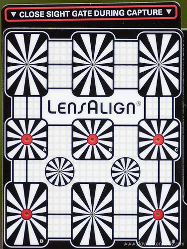 LensAlign's bulls-eyes