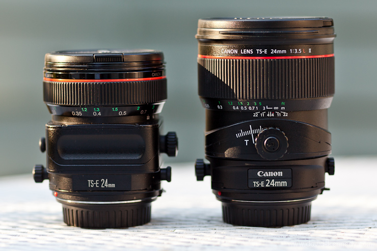 Canon 24mm f/3.5L TS-E lenses
