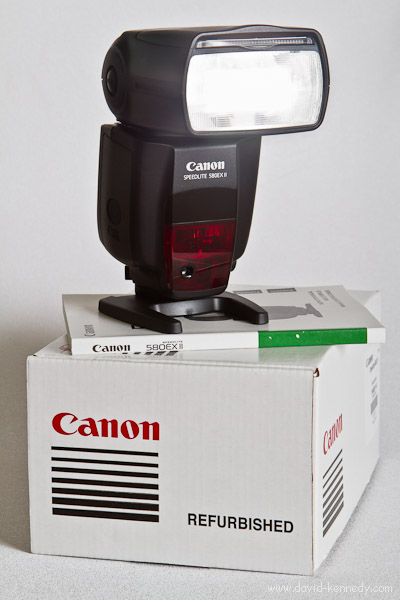 Refurbished Canon 580 EX Mk. II Speedlite