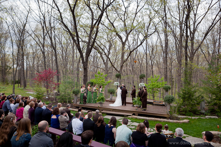 August Kryger and Amanda Shea's wedding ceremony at Alpine Park on 23 April 2011.