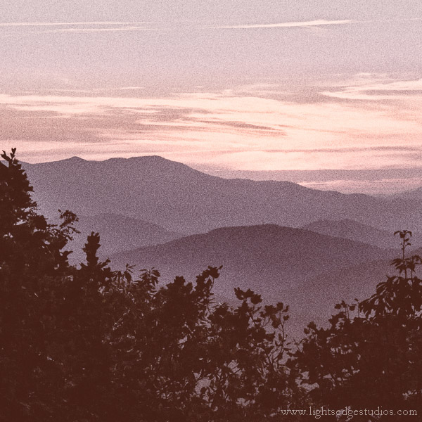 Blue Ridge Highway sunset