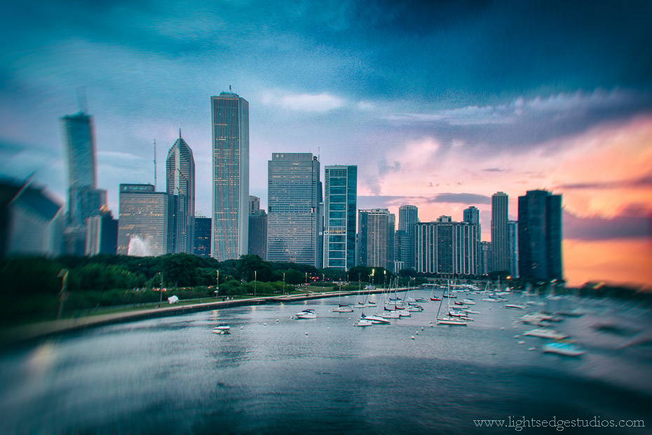 Chicago Skyline, July 2013 | Fuji X-E1 and XF 18-55mm lens @ 39mm | Exposed 1/18 sec. @  f/6.4, ISO 800